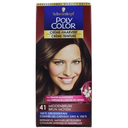 Poly Color Haarverf nr. 41 Middenbruin 4015000211413