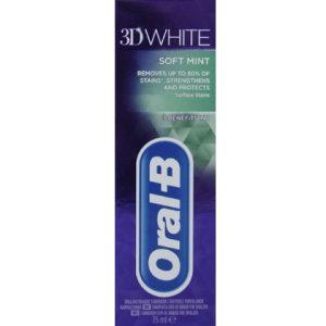 Oral-B Tandpasta 3D White Soft Mint 75 ml 8001090128836