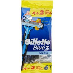 Gillette Wegwerpmesjes Blue 3 Smooth 6 stuks 7702018474851