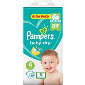 Pampers Baby Dry 4 120 luiers 4015400833871
