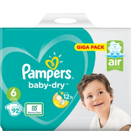 Pampers Baby Dry 6 92 luiers 4015400834991