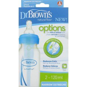 Dr. Browns Fles Blauw 2x 120 ml 072239306314