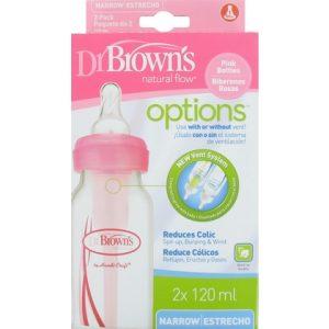 Dr. Browns Fles Roze 2x 120 ml 072239306307