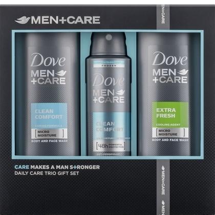 Dove Geschenk Men Care Clean Comfort Extra Fresh 2x Douchegel + Deospray 8710447373422