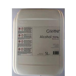 Givani desinfectiemiddel 70 % alcohol 5 liter 8714666004495