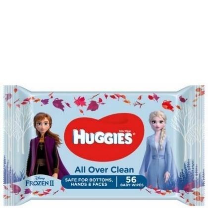 Huggies Babydoekjes All Over Clean Frozen 56st 5029053550022