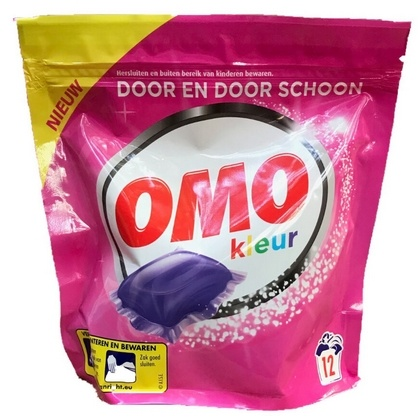 Omo Wasmiddel Capsules Kleur 12 stuks 8714100175941