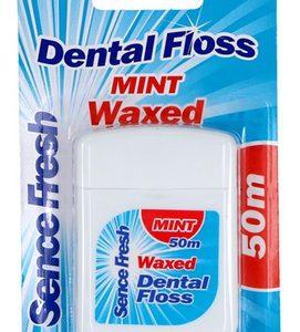 Sencefresh Flosdraad Mint Waxed 50 m. 8717825618700