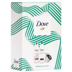 Geschenk Dove Women - Duo 2x Douchegel 225ml + puff