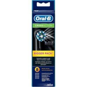 Oral-B Opzetborstels Cross Action Black Edition 8 stuks 4210201217794