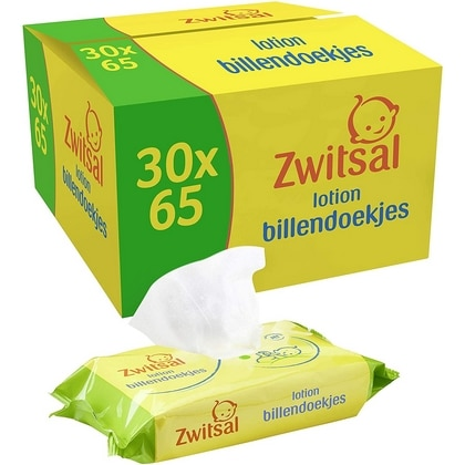 Zwitsal Billendoekjes Box 30 packs x 65 st 8720181060854