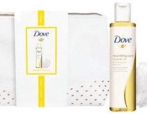 Geschenk Dove- Douche O8710447391167il 200 ml, Puff, Toilettas
