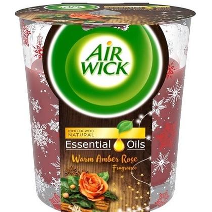 Airwick Geurkaars Essential Oils - Warm Amber Rose 105 gr 5999109541314