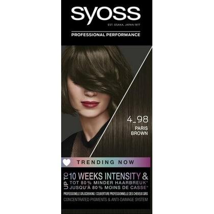 Syoss Haarverf - nr. 4-98 Paris Brown 5410091759261