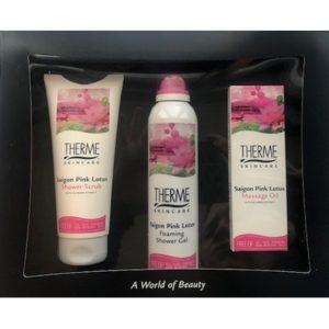 Therme Geschenk - Saigon Pink Lotus Scrub,Douche, Olie 8714319212055