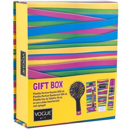 Vogue Girl Geschenkset - Douche,Deospray, EDT en haarborstel 8714319164163