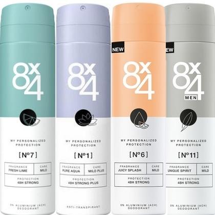 8x4 deosprays nieuwe lijn