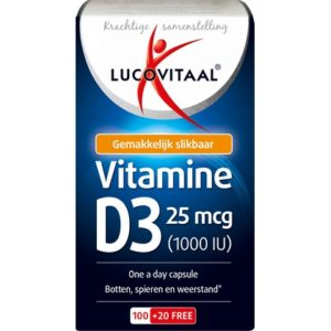 Lucovitaal Vitamine D3 25mcg (1000IU) 120 caps 8713713038957