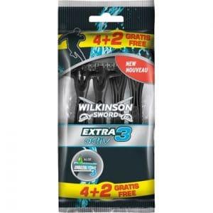 Wilkinson Wegwerpmesjes Men Extra 3 Active 4+2 stuks 4027800705559