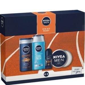 Geschenk Nivea Men Gym Kit Ready Douchegel, Shampoo, Creme + Deoroller 5025970009834